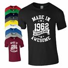 60th Birthday Gift T-Shirt Made in 1958 Being Awesome Age 60 Years Mens Ladies