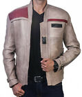 Star Wars Poe Dameron Finn Jacket The Force Awakens Real Genuine Leather Costume $119.0 USD