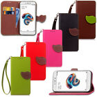 Leaf Stand Leather Card Wallet Magnetic Case Cover For Samsung Huawei iPhone