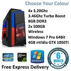 Fast Core I5 Gaming Computer - Windows 7 | 4gb Gtx 1050ti - Choose Your Colour