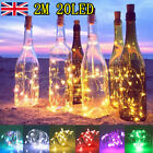 2M 20 LED Cork Shape Starry Night Light Wine Bottle Lamp Valentine's Wedding UK