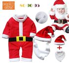 Infant Baby Christmas Romper Bibs Hat bodysuit Xmas Costume Dress Toddler Outfit