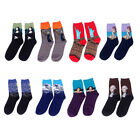 oil socks - Men's Tube Socks Crazy Oil Painting Series Male Winter Casual Soft Cotton Socks