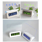 LED Light Fluorescent Message Board Digital USB HUB Wall Alarm Clock Calendar JA