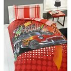 HOT ROD RED RACE CAR  DUVET SET  Single
