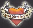 """""""MOMMY"""" Tattoo Style TODDLER Black T-Shirt Tee with HEARTS, RIBBON, BIRDS NWT"""