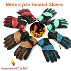 Pair 12V Motorcycle Bike Outdoor Hunting Electric Heated Gloves Hand Warmer 16W