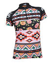 MIMO DESIGN FLORAL EMBROIDERY WOMEN'S CYCLING Jersey Short Sleeve