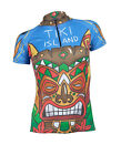 MIMO DESIGN TIKI ISLAND Woman's Cycling Jersey Short Sleeve