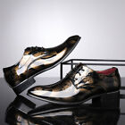 Mens Patent Leather Shoes Pointed Toe Lace Up Wedding Formal Dress Oxfords US 13