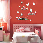 Es_ Live Laugh Love Quote Removable Wall Stickers Mirror Decal Diy Room Decor Ch