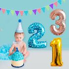 """32"""" Giant Crown Foil Number Age Balloon Baby Shower Party Birthday Wedding Decor"""