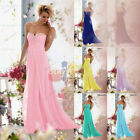 New Formal Long Chiffon Ball Gown Evening Party Bridesmaid Prom Dress size 6-26