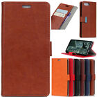 Luxury Crazy Horse PU Leather Flip Wallet Case Cover For Various Phone