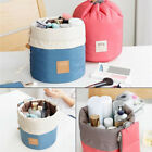 Barrel Cosmetic Bag Travel Drawstring Drum Makeup Toiletry Organizer Storage