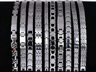 10pc wholesale lots Mixed style Men's Jewelry Silver Stainless Steel Bracelets