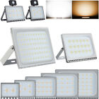 10W 20W 50W 100W LED Floodlight PIR 300W 500W Outdoor Garden Security Light IP65