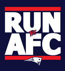 New England Patriots RUN the AFC shirt NFL Playoffs Superbowl Super Bowl t-shirt on eBay