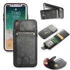 activate at&t go phone sim card online - Detachable Leather Flip Wallet Phone Card Case Cover for iPhone X 6 7 8 Samsung