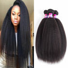 3Bundles Kinky Straight Human Hair Bundles Peruvian Virgin Human Hair Extensions