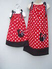 Pillowcase Minnie Mouse Mother & Daughter Dress ANY SIZE 4-12 Yrs Handmade