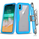best iphone protection cases - For iPhone 10 iPhone X Hybrid Armor Belt Clip Holster Box Case Built in Screen