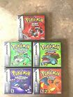 Game Boy Adv. Cust. Game Case Pokemon Leaf Green-Fire Red-Emerald-Sapphire-Ruby