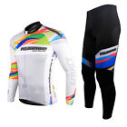 Spakct Bike Men's Cycling Suits Long Sleeve Jersey & Tights Pants-Provence