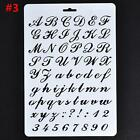 Letter Alphabet Number Layering Stencils Painting Scrapbooking Paper Cards JJ