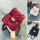 Women's Quilted Velvet Small Mini Backpack Rucksack Daypack Purse Cute Handbag