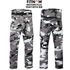 Motorbike Motorcycle Cordura Textile Trouser Pant with Bib CE Armours Camo