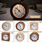 Modern Wood Digital Silent Mute Table Bedside Snooze Alarm Clock W/Nightlight