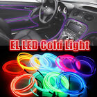 1/2/3M LED EL Wire Neon String Car Interior Floor Atmosphere Light Strip Decor