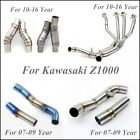 For 07-16 Kawasaki Z1000 Front Mid Link Pipe Connect Elbow Tubes Stainless Steel