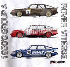 Retro Touring Car T-shirt: Group A TWR Rover Vitesse 'Triple stack'
