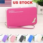 Women Lady Leather Wallet Purse Long Handbag Clutch Box Bag Phone Card Holder BJ