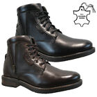 NEW MENS LEATHER WINTER ARMY MILITARY BIKER COMBAT ANKLE HIKING BOOTS SHOES SIZE