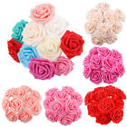 50 Foam Roses Artificial Fake Flowers Heads Wedding Bouquet Party Home Decor DIY