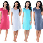 Purpless Maternity Pregnancy & Nursing Short Sleeves Lace Finish Nightgown 6066n