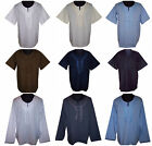 Cotton Mens Embroidered Kaftan Caftan Casual Shirt Top Boho Hippie Loose Fit