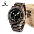 Bobo Bird Men's Wooden Watch Luxury WOOD LED Watch Quartz - Digital & Analog NEW