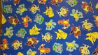 Pokemon fabric pikachu eevee charizard Pillow- case -Valance -  FREE NAME embroi