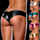 Women Sexy G-String Micro Thong Leather Lingerie Underwear Panty Briefs Knickers