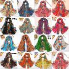 Hot Womens Free Size Soft Scarves Scarf Multi Flower Super Wraps Beach Shawls#
