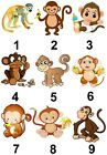 Monkey Small or Large Sticky White Paper Stickers Labels NEW