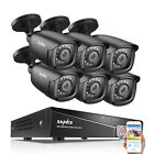 SANNCE 4CH 8CH DVR Full 1080P Outdoor Security Camera System IR Night Vision 2TB