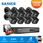 SANNCE 4CH / 8CH 1080P HDMI DVR 1500TVL 720P 24IR CUT Security Camera System 1TB