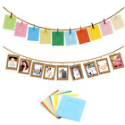 10Pcs Colorful Wooden Photo Frame Clip Holder For Baby Shower Wedding Decoration
