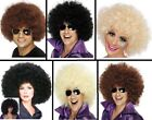 Men's 70's Afro Wigs & Glasses Stag Party Funky Wig Fancy Dress Club Disco Fun