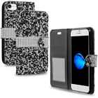 For Apple iPhone 6 6S 7 Plus Wallet Case Hdwp Dreams Luxury Black Bling Edition
